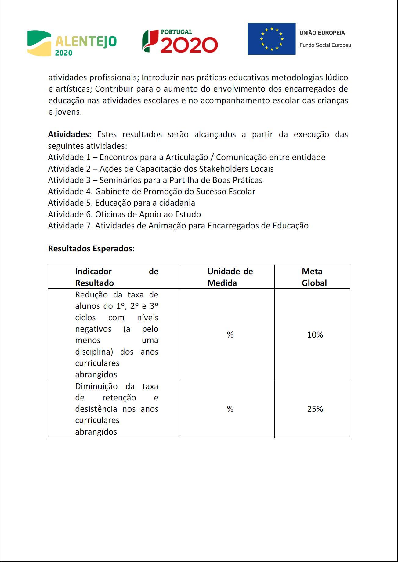 Ficha Sumária do Projeto - folha 2